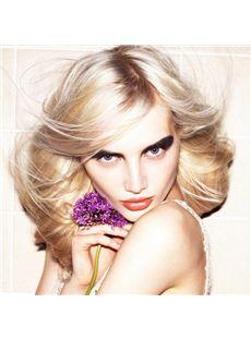 Newest Medium Blonde 100% Indian Remy Hair Mens Wigs