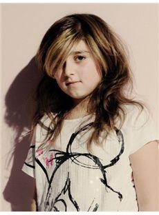 Newest Medium Brown 100% Indian Remy Hair Kids Wigs 18 Inch