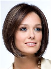 Outstanding Full Lace Short Straight Black Remy Hair Wig