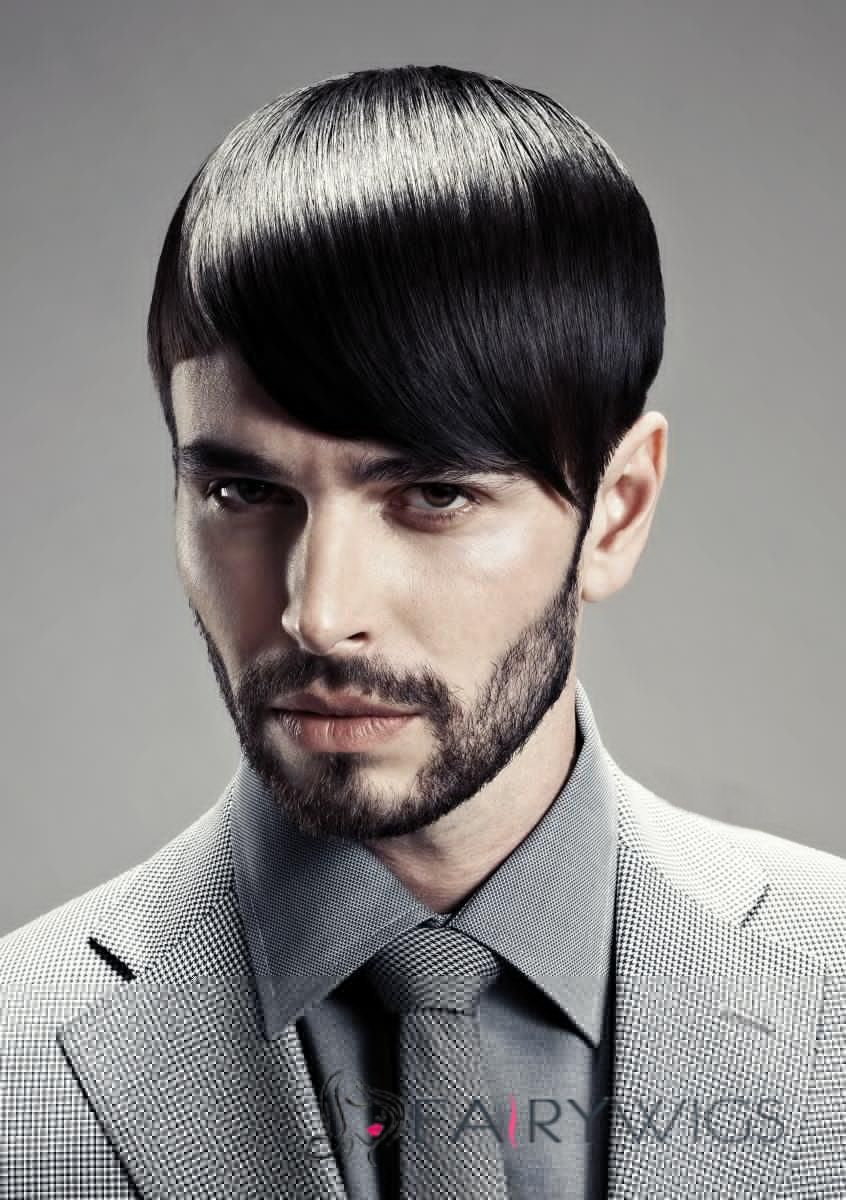 outstanding short human black hair mens wigs fairywigscom