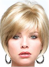Perfect Short Straight Blonde 10 Inch Real Hair Wigs