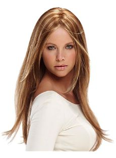 Pretty Lace Front Medium Straight Blonde Human Hair Wig