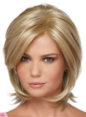 Pretty Full Lace Short Straight Blonde Human Hair Wig