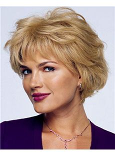 Cheap blonde short curly wigs