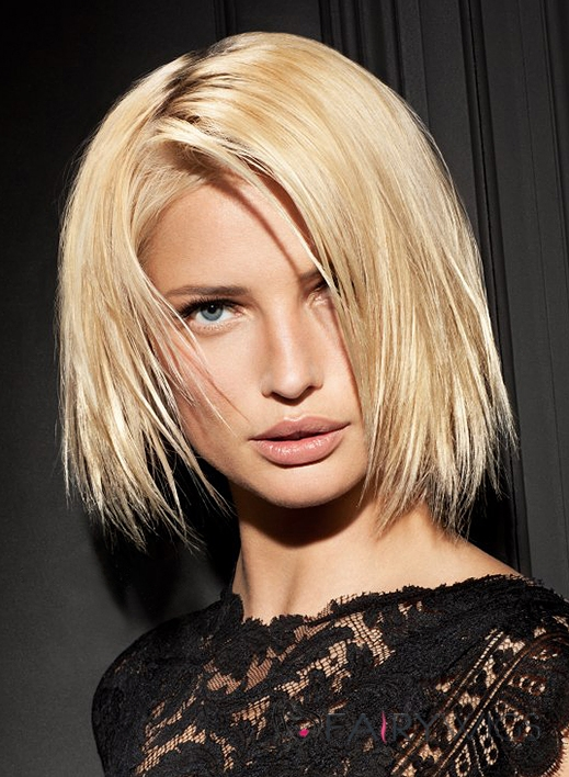 Soft Lace Front Short Straight Blonde Top Indian Remy Hair Wig