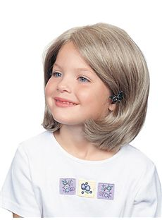 Special Cool Short Blonde 100% Indian Remy Hair Kids Wigs 12 Inch