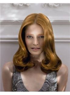 Stunning Full Lace Medium Wavy Blonde Hair Wig