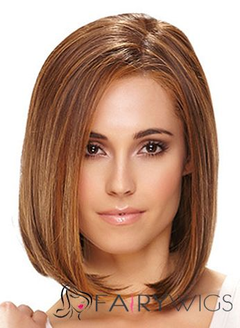 Super Smooth Full Lace Short Straight Remy Blonde Hair Wig