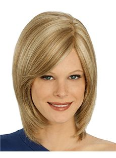 The Fresh Full Lace Medium Straight Blonde Remy Hair Wig