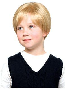 Vogue Wig Short Blonde 100% Indian Remy Hair Kids Wigs 8 Inch