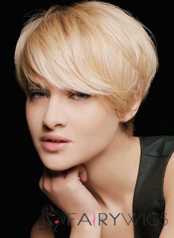 Vogue Wig Short Straight Blonde 8 Inch Human Hair Wigs