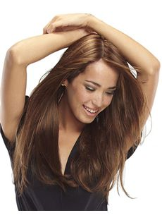 Wholesale Full Lace Long Straight Brown Remy Hair Wig