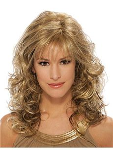 Wholesale Medium Wavy Blonde 16 Inch Virgin Brazilian Hair Wigs