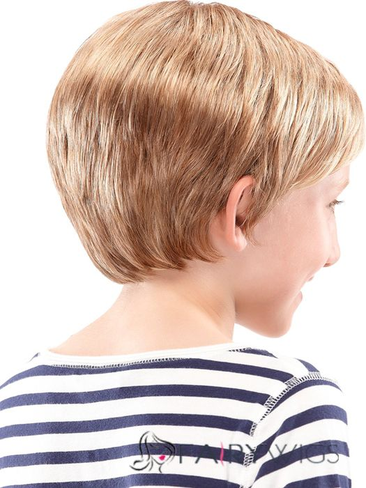 Wigs For Sale Short Blonde 100% Indian Remy Hair Kids Wigs 8 Inch
