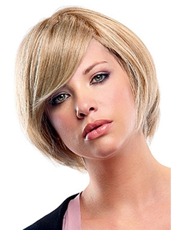 Wigs For Sale Short Wavy Blonde 12 Inch Human Hair Wigs