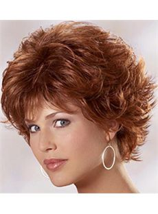 Wigs For Sale Short Wavy Red 10 Inch Indian Remy Hair Wigs