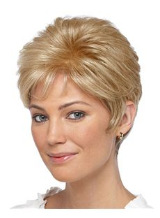 Wonderful Full Lace Short Wavy Blonde Remy Hair Wig