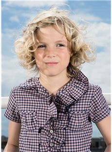 Wonderful Short Blonde 100% Indian Remy Hair Kids Wigs 10 Inch