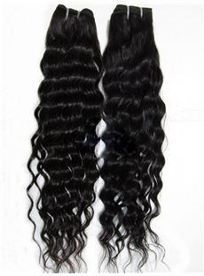 12'-30' Curly 100% Human Natural Black Weave Hair Extensions