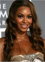 Lace Front Medium Wavy Sepia Beyonce Knowles' Hair Wigs
