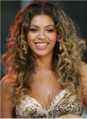 Sexy Lace Front Medium Wavy Grey Beyonce Knowles' Human Wigs