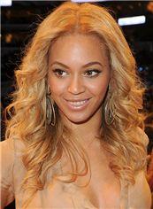 Full Lace Medium Wavy Blonde Beyonce Knowles' Wigs 100% Human Hair