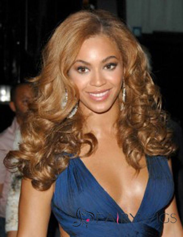Stunning Lace Front Beyonce Knowles' Wigs Medium Wavy Human Hair