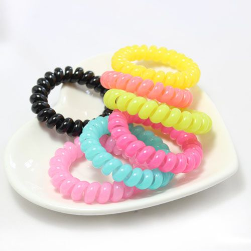 New South Korea High Quality Elastic Phone Coil Hair Band Large Size One Piece