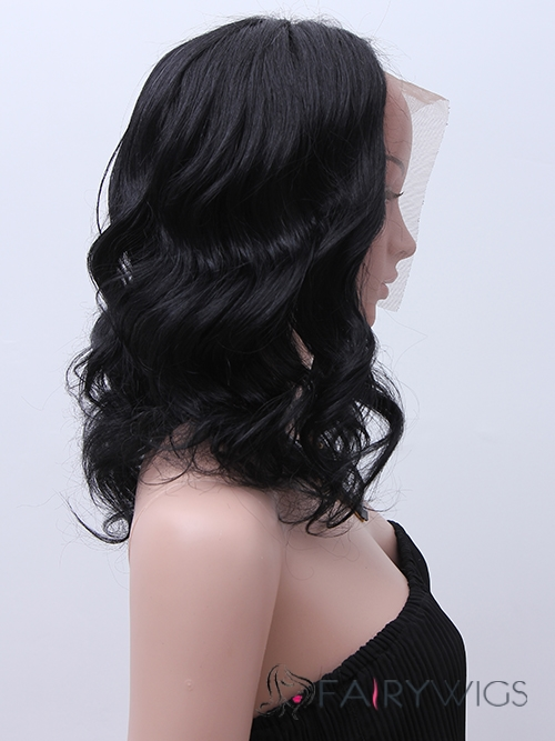 April L. Hernandez Hairstyle Medium Wavy Full Lace Remy African American Wigs