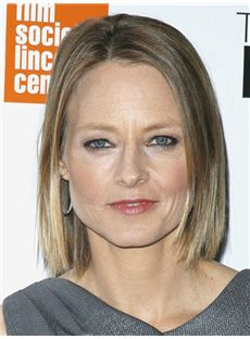Jodie Foster Hairstyle Short Straight Full Lace Human Hair Bob Wigs