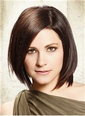 Bouncy Short Straight Full Lace 100% Indian Remy Hair Bob Wigs