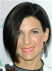 Jessica Seinfeld Hairstyle Short Straight Full Lace Bob Wigs