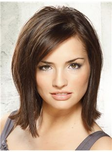 Charming Short Straight Full Lace 100% Indian Remy Hair Bob Wigs