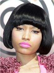 Classic Nicki Minaj Short Straight Capless Synthetic Bob Wigs