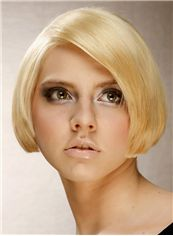 Competitive Short Straight Full Lace Human Hair Bob Wigs