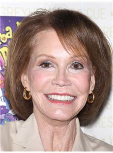 Mary Tyler Moore Hairstyle Short Straight Full Lace Human Hair Bob