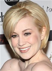 Kellie Pickler Hairstyle Short Straight Full Lace Human Hair Bob Wigs