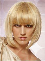 Exquisite Short Straight Capless Human Hair Bob Wigs