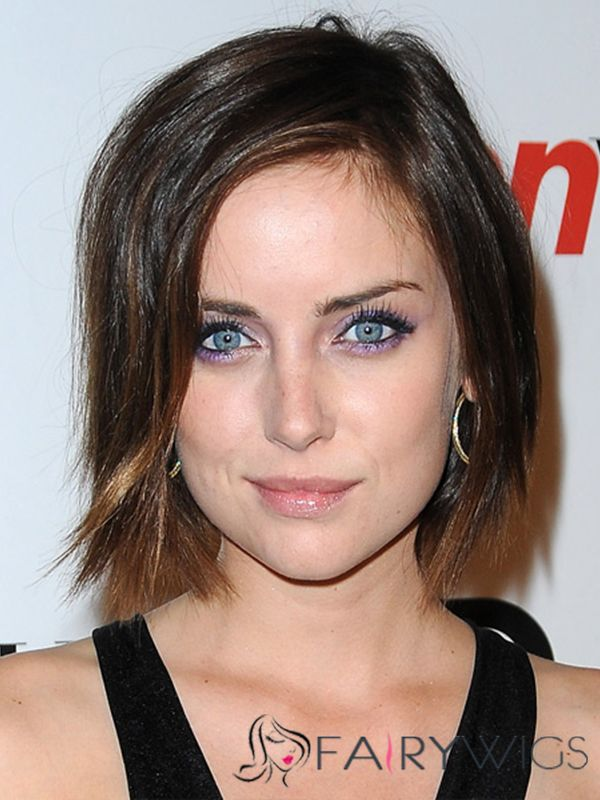 Jessica Stroup Hairstyle Short Straight Full Lace Human