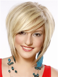 Glamorous Short Straight Capless Human Hair Bob Wigs