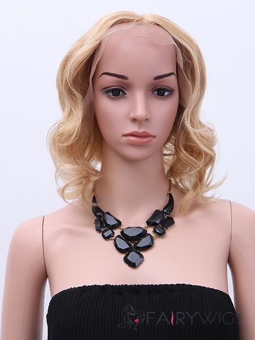 Charlize Theron Hairstyle Short Wavy Full Lace Human Hair Bob Wigs