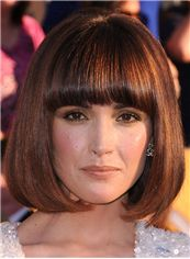 Short Wavy Capless Human Hair Rose Byrne Hairstyle Bob Wigs