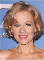 Penelope Ann Miller Hairstyle Short Wavy Full Lace Human Hair Bob Wigs