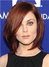 Anna Nalick Hairstyle Short Wavy Full Lace Human Hair Bob Wigs