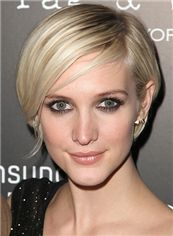 Ashlee Simpson Hairstyle Short Straight Full Lace Human Hair Bob Wigs