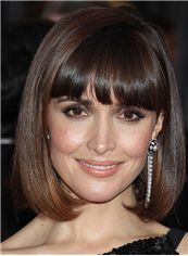Rose Byrne Hairstyle Short Straight Capless Human Hair Bob Wigs