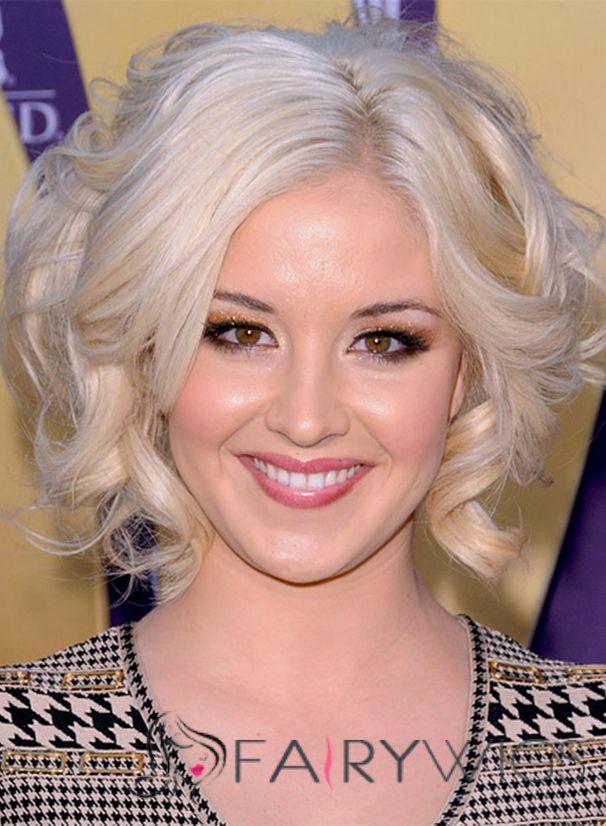 Kellie Pickler Hairstyle Short Wavy Full Lace Virgin Brazilian Hair ...