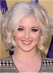 Kellie Pickler Hairstyle Short Wavy Full Lace Virgin Brazilian Hair