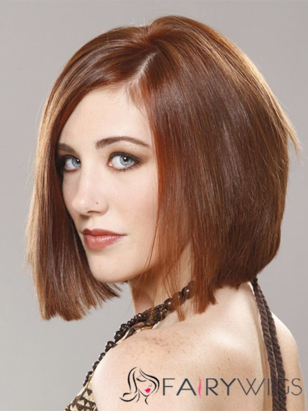 Perfect Short Straight Lace Front Indian Remy Hair Bob Wigs