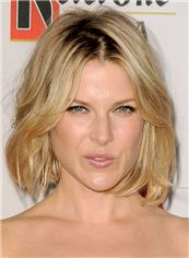 Ali Larter Hairstyle Short Wavy Full Lace Human Hair Bob Wigs